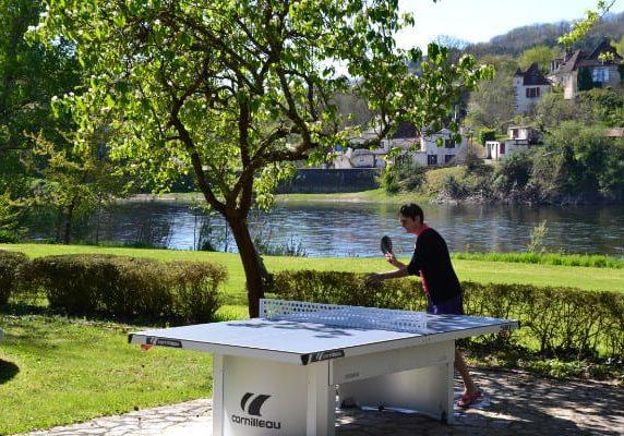 Ping pong en chambres d'hôtes Dordogne en bord de rivière Sarlat